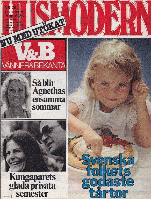 Husmodern 1981-29 ABBA Agnetha.Twiggy.Åsa Bodén.Greta Garbo