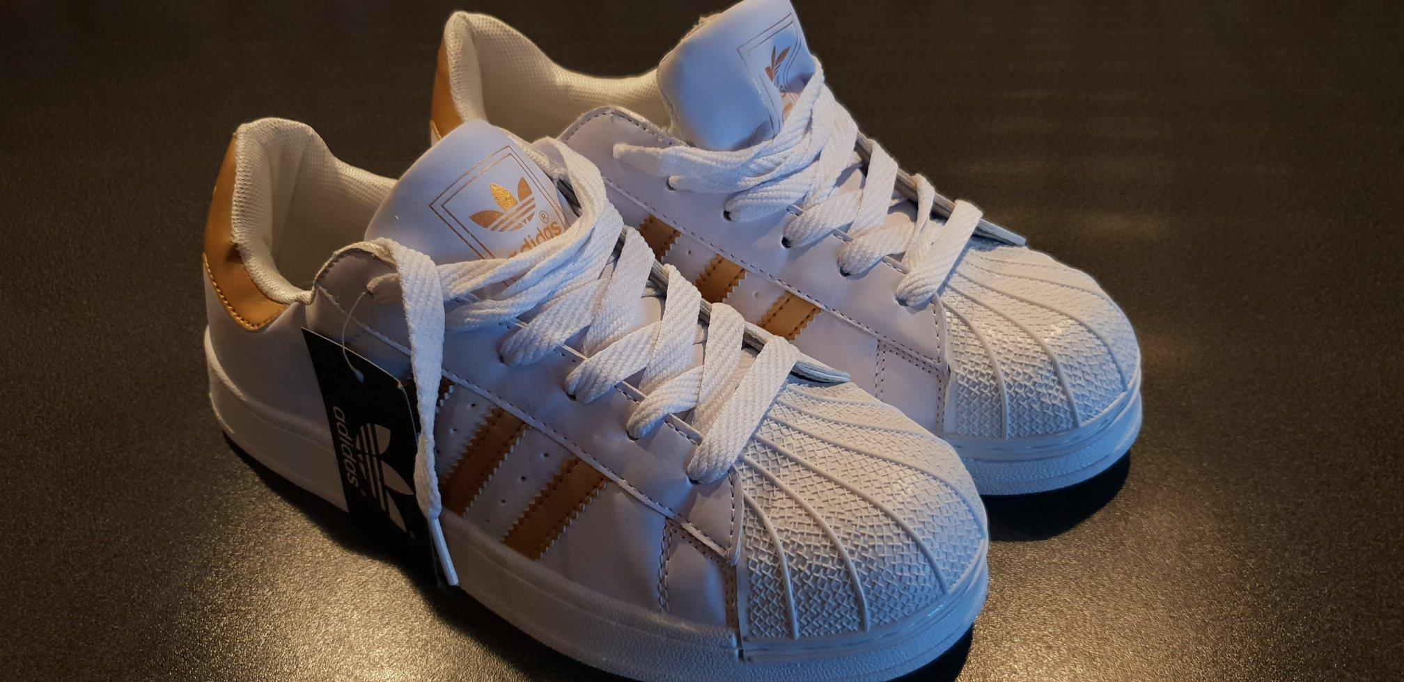 more photos 92094 cc533 Adidas Superstar 2 guld vit Strl 40 - Helt nya och oanvända!