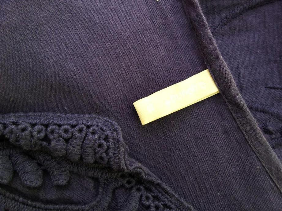 B.YOUNG Tunic Dress Size 6 Purple Purple Purple 100% Cotton Embroidery d2272b
