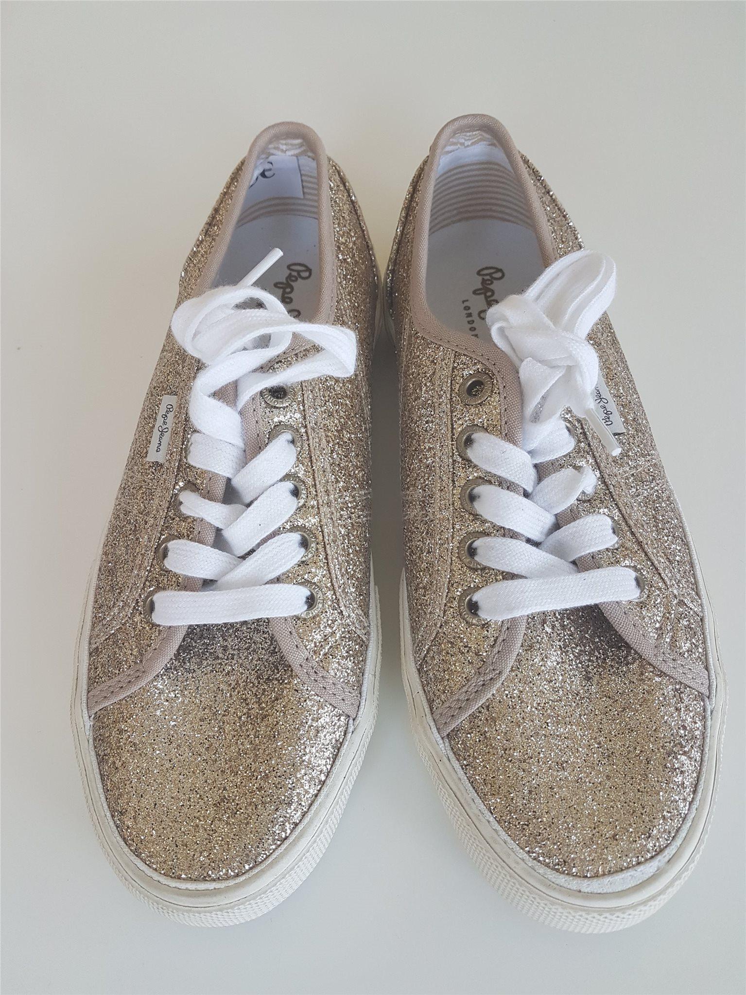 520cfcaf70f Pepe Jeans sneakers strl 37,5 guld glitter Nya .. (334648742) ᐈ Köp ...