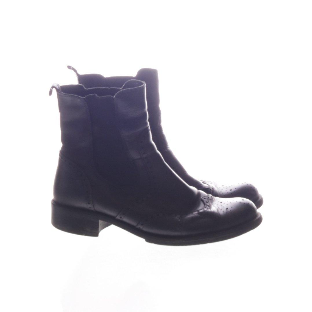 Oscaria, Boots, Strl: 39, Svart, Skinnimitation