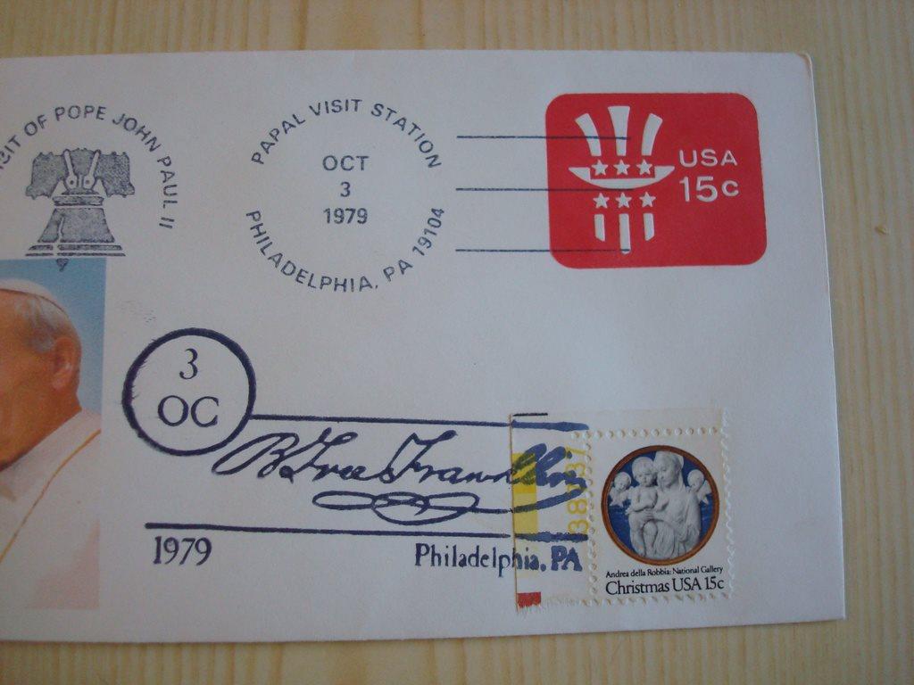 Påve John Paul II1979 II1979 II1979 USA förstadagsbrev nummer 2/5 c9587a