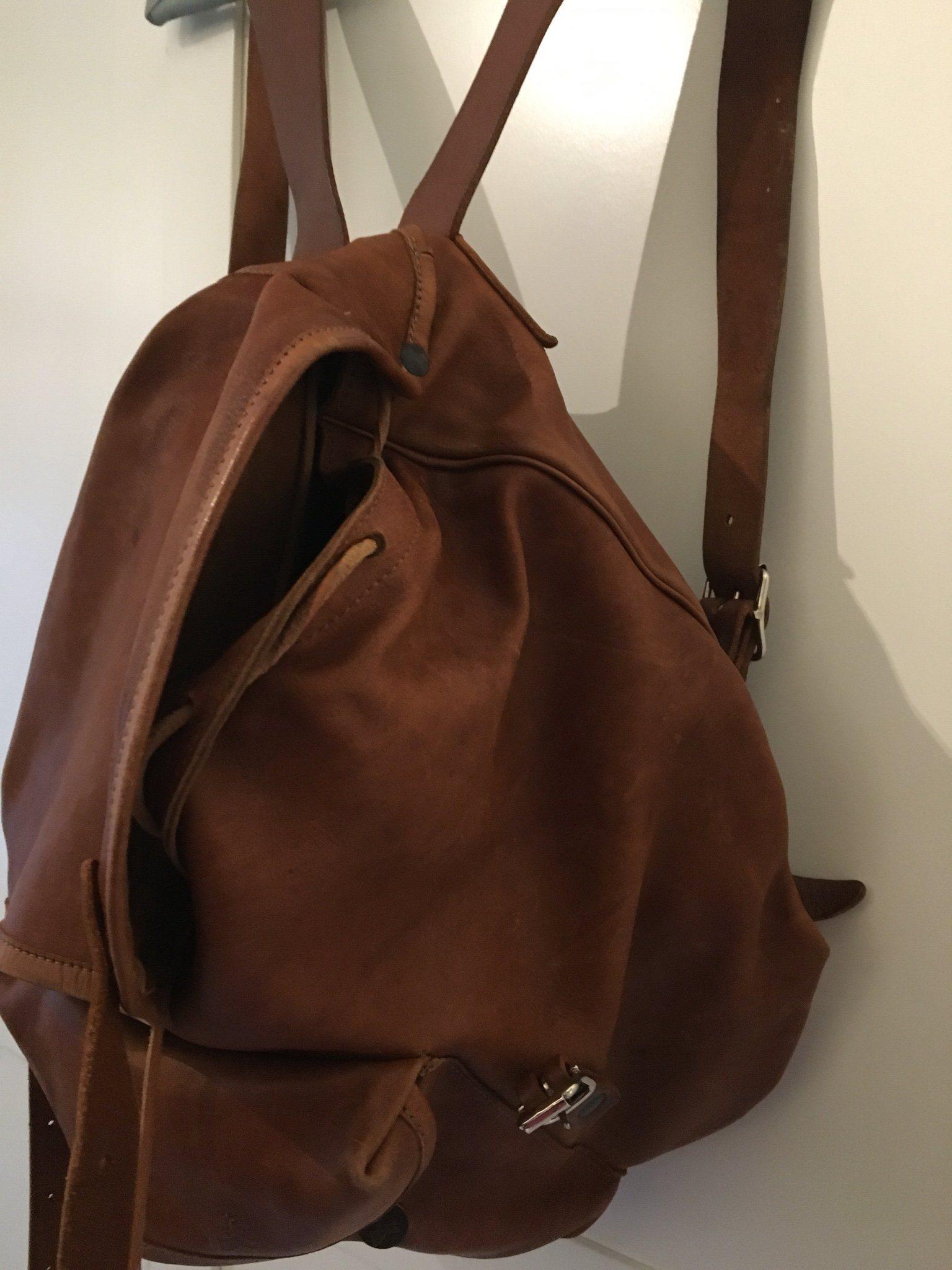 Underbar retro vintage skinn (ren) ryggsäck (342061031) ᐈ Köp på ... abfcac1cc64f7