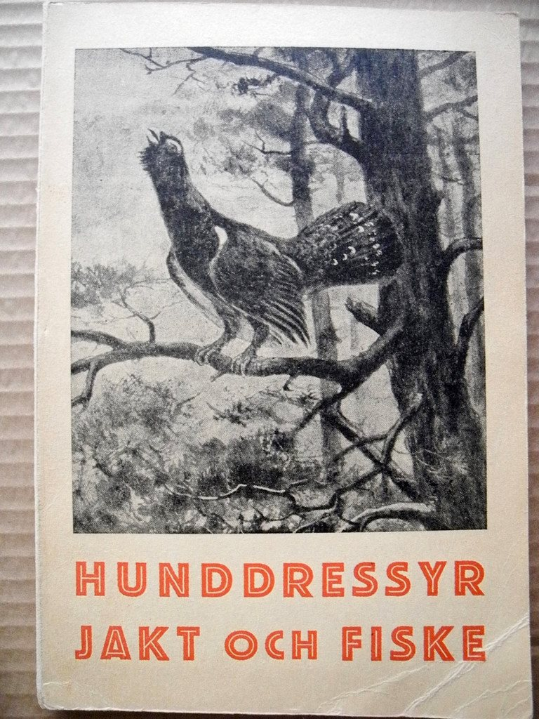 HUNDDRESSYR JAKT OCH FISKE Helmer Wegin 1947