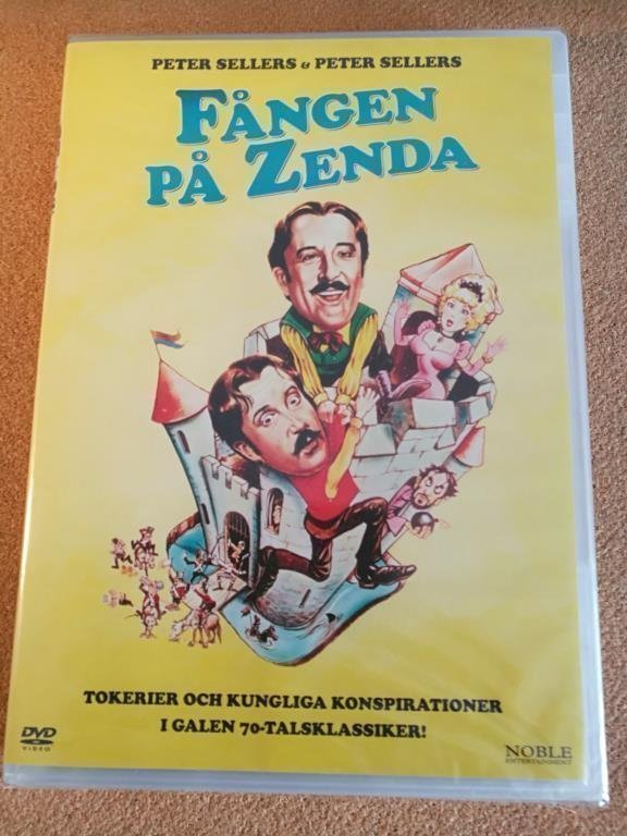 FÅNGEN PÅ ZENDA (1979) NY inplastad DVD svensk text, Peter Sellers, Prisoner of