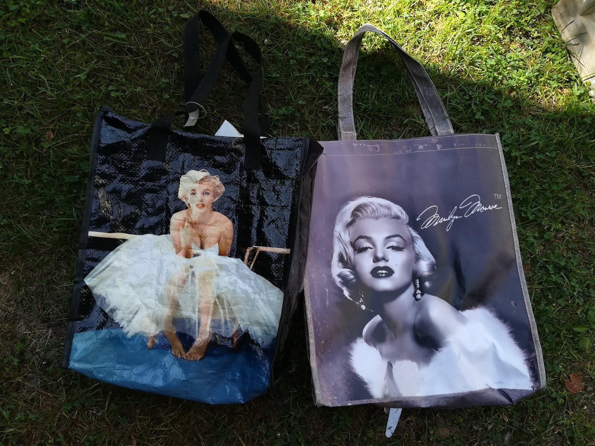 VÄSKA x 2 kasse HANDVÄSKA Marilyn Monroe movie star leopard Diva Glam  Hollywood 1c1ead8200