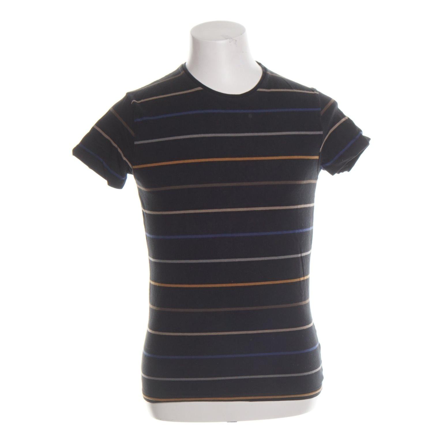 T tröja med knapprad| Färg:Svart, Blå, Brun, Mörkblå