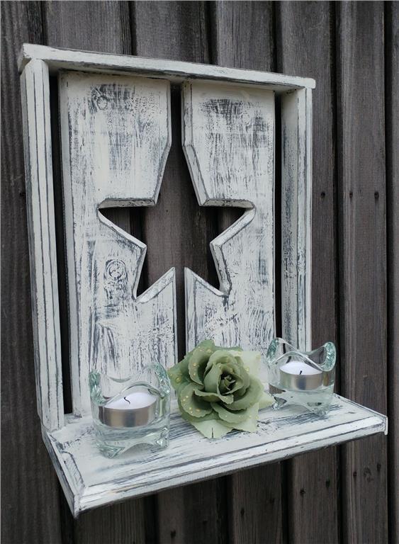 Vägg / bord / fönster dekoration med ljus på Tradera.com ...