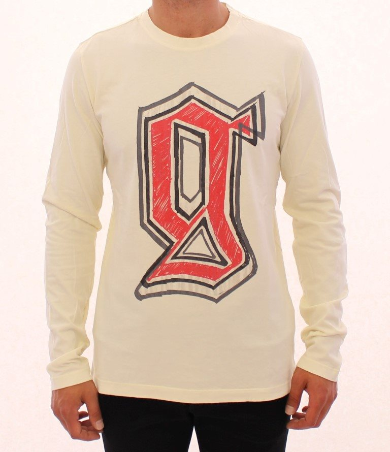 Galliano - Beige crewneck long sleeve t-shirt