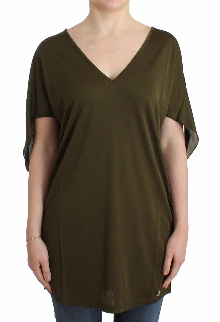 Galliano - Green shortsleeved blouse top