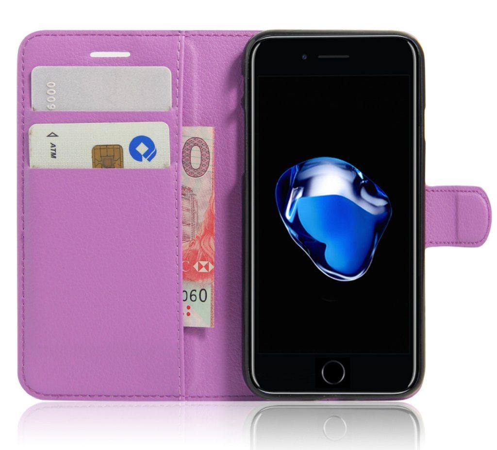 Plånbok - Fodral - Iphone 7 8 - Lila (298001353) ᐈ Billigamobilskal ... 6012e325daf84