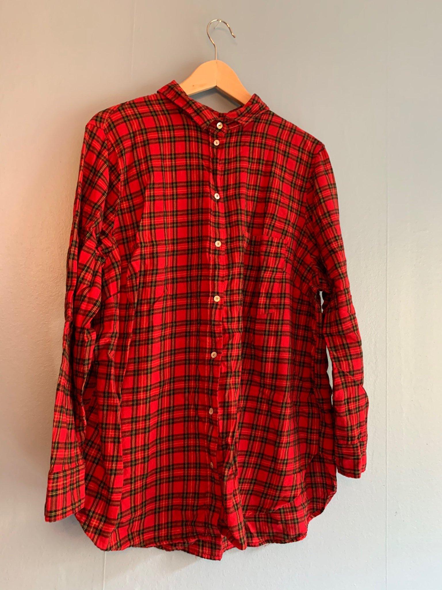 Strl 50 Rutig skjorta