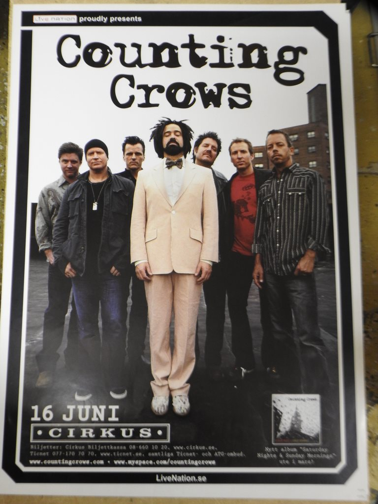 Poster Counting Crows Cirkus i toppskick