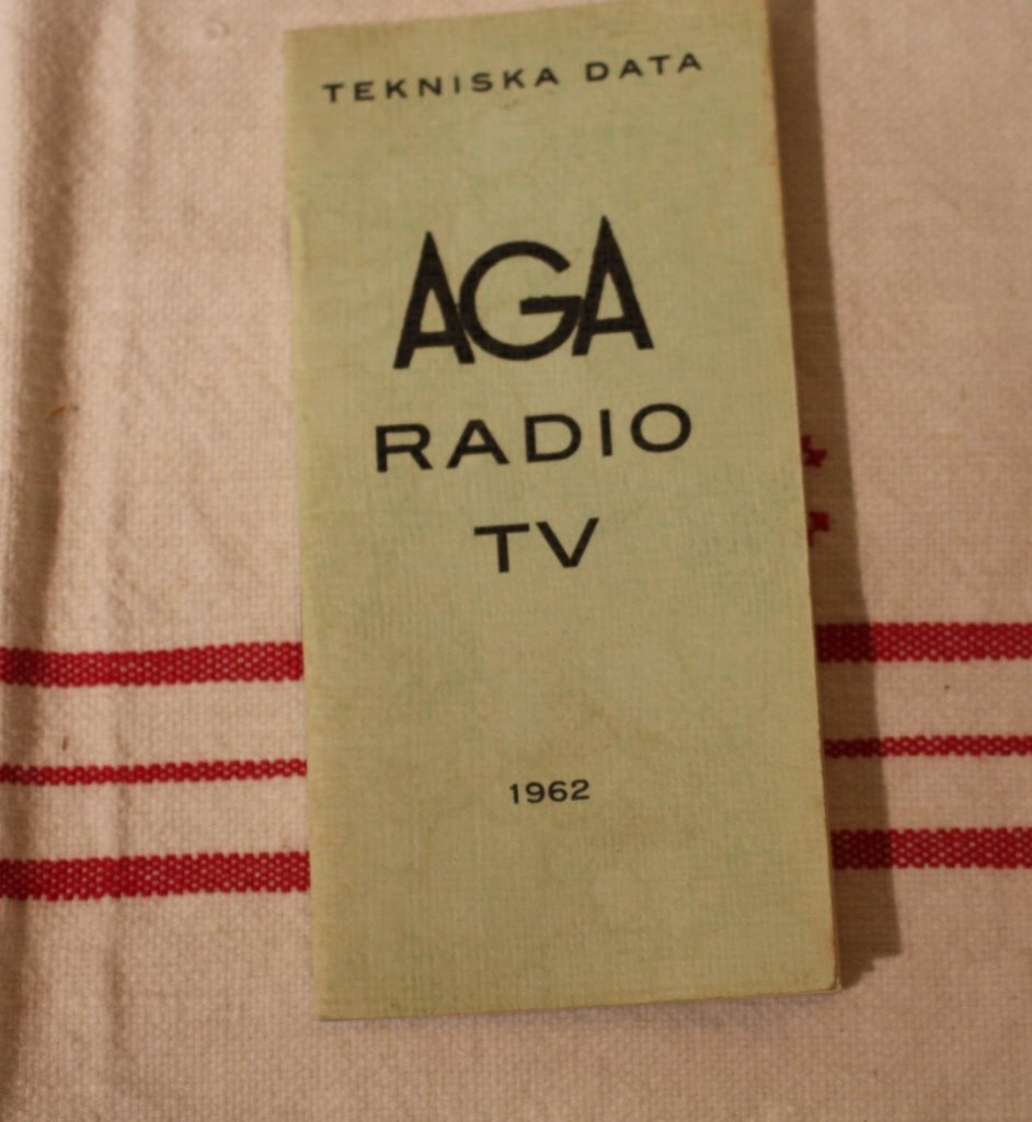 AGA RADIO RADIO RADIO TV 1962, TEKNISK DATA 2ec082