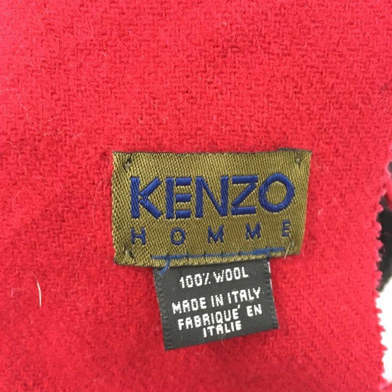 Kenzo Homme, Halsduk, Strl: Strl: Strl: one, Röd, Ull 605b94