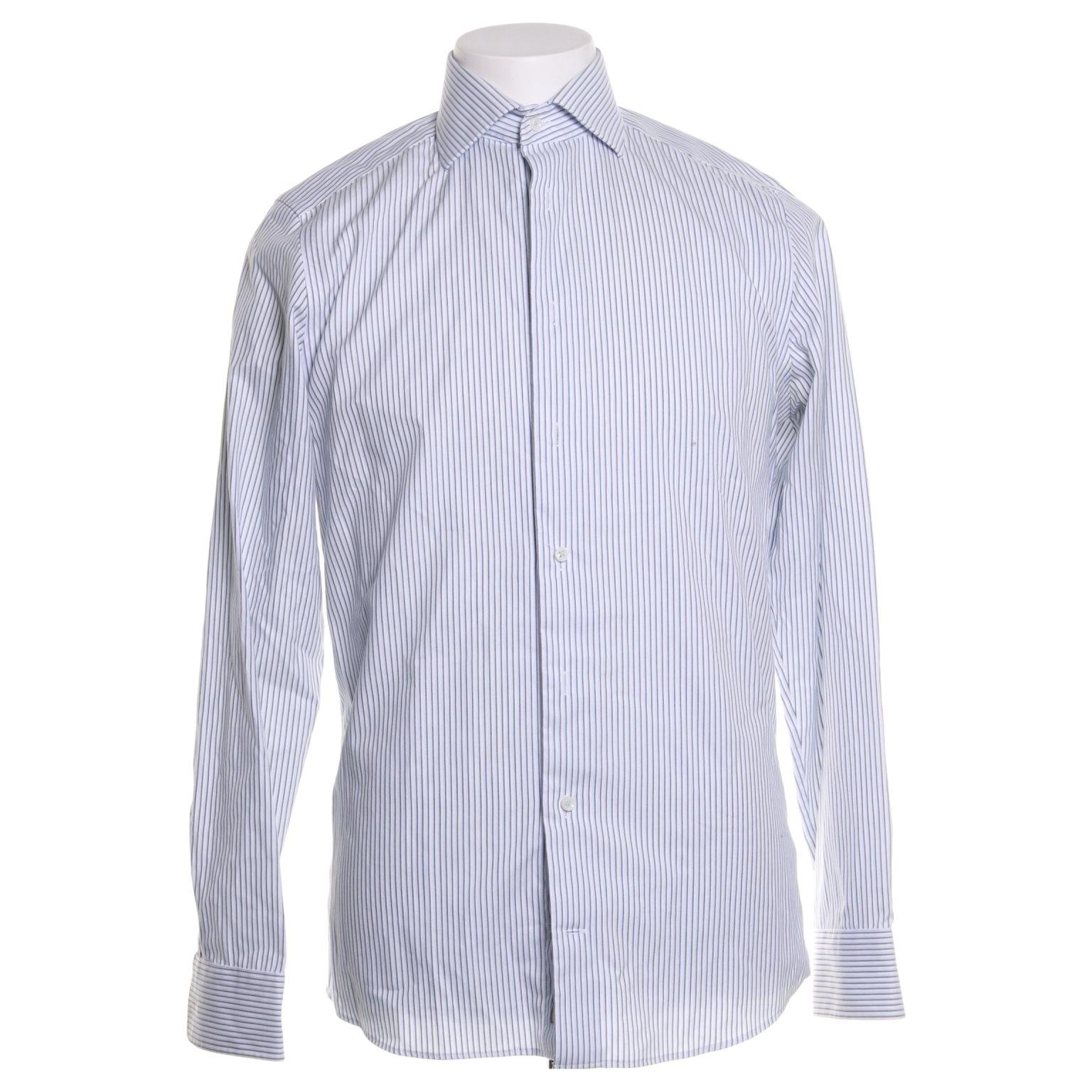 vit slim fit skjorta