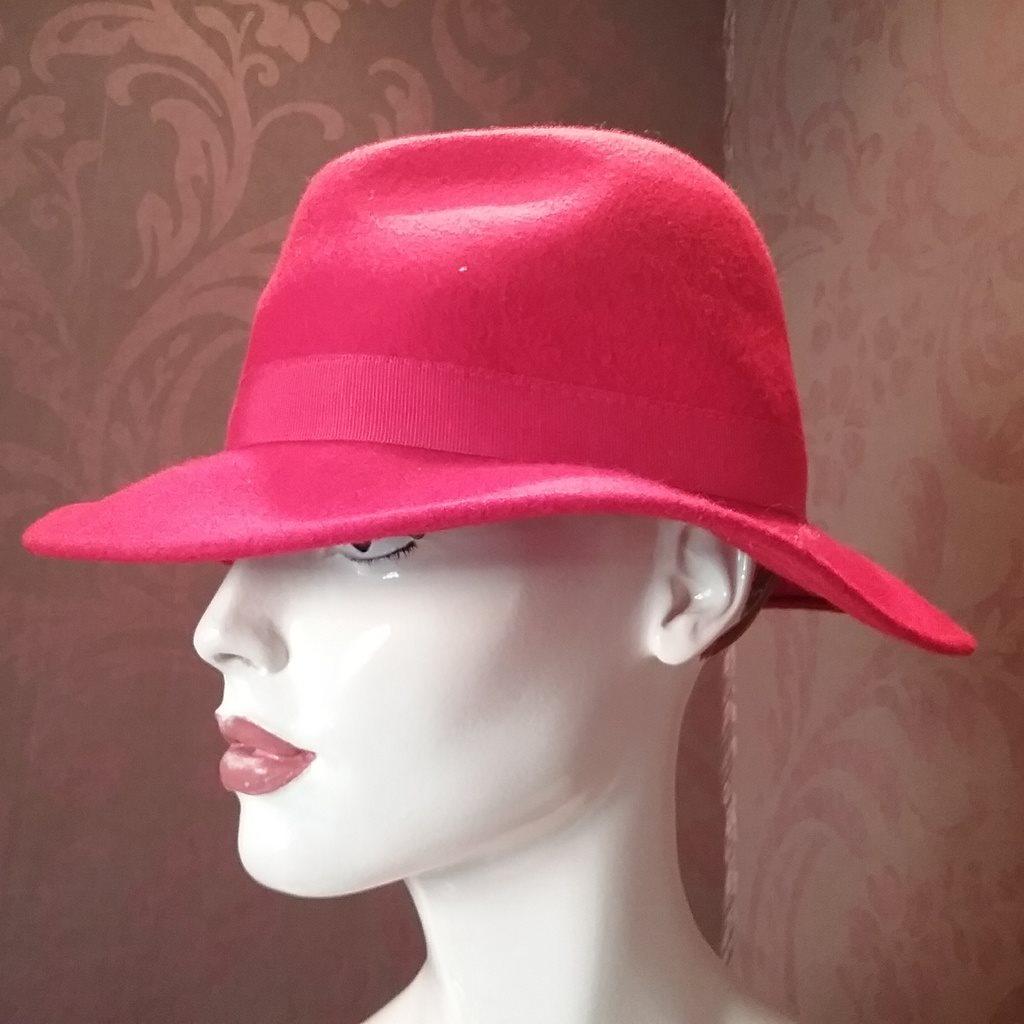 Vintage retro hatt damhatt röd fil.. (308228323) ᐈ vintagecorner på ... 2c63eb0b34bb0
