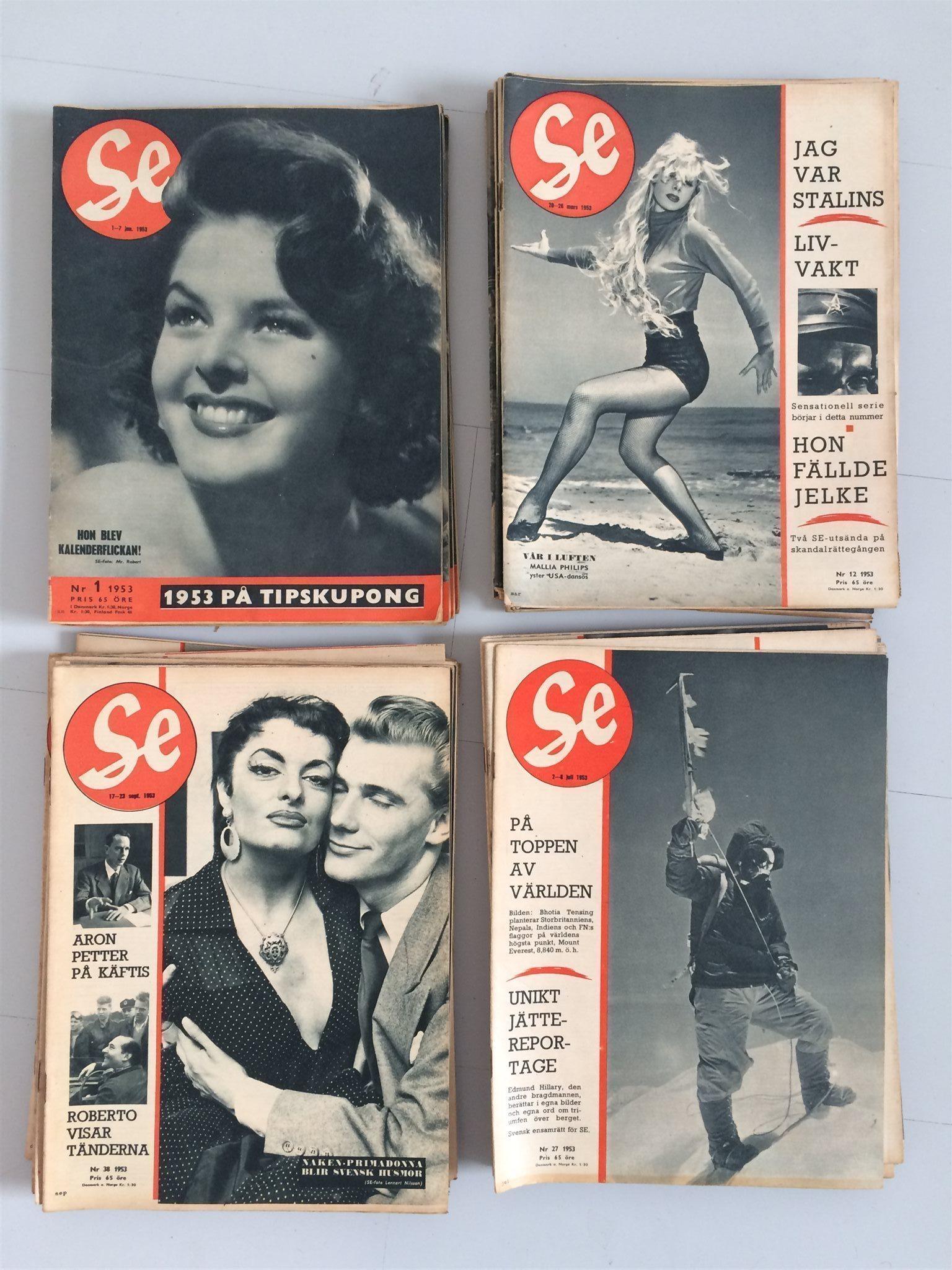 Tidningen SE årgång 1953