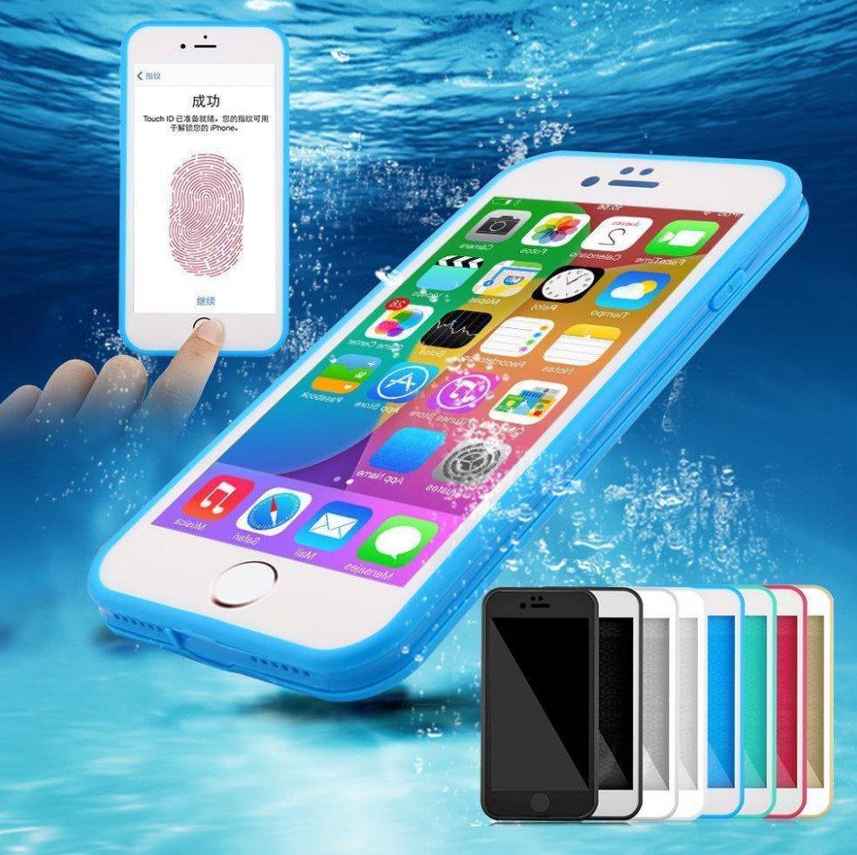 iPhone 8 Vattentät Skal  Waterproof Shockproof Hybrid Ruber TPU Case - Clear 7ebf5031b194e