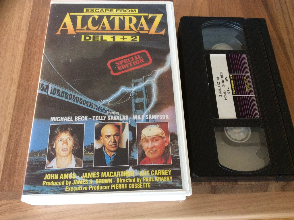 Alcatraz special edition NORSK VHS ,Telly Savalas,Sampson,Michael Beck