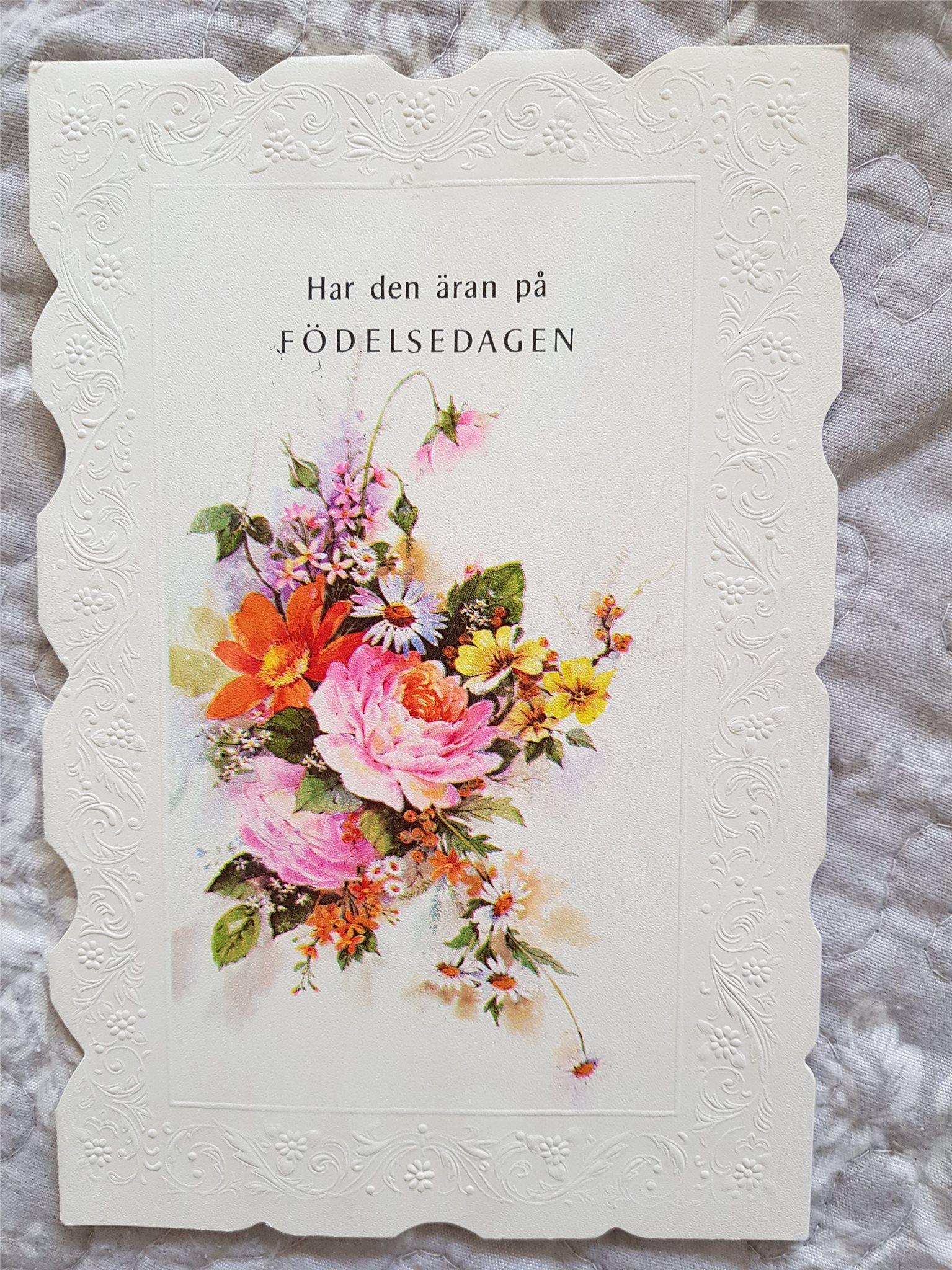vackra födelsedagskort Vackert födelsedagskort, retro (312116250) ᐈ Köp på Tradera vackra födelsedagskort