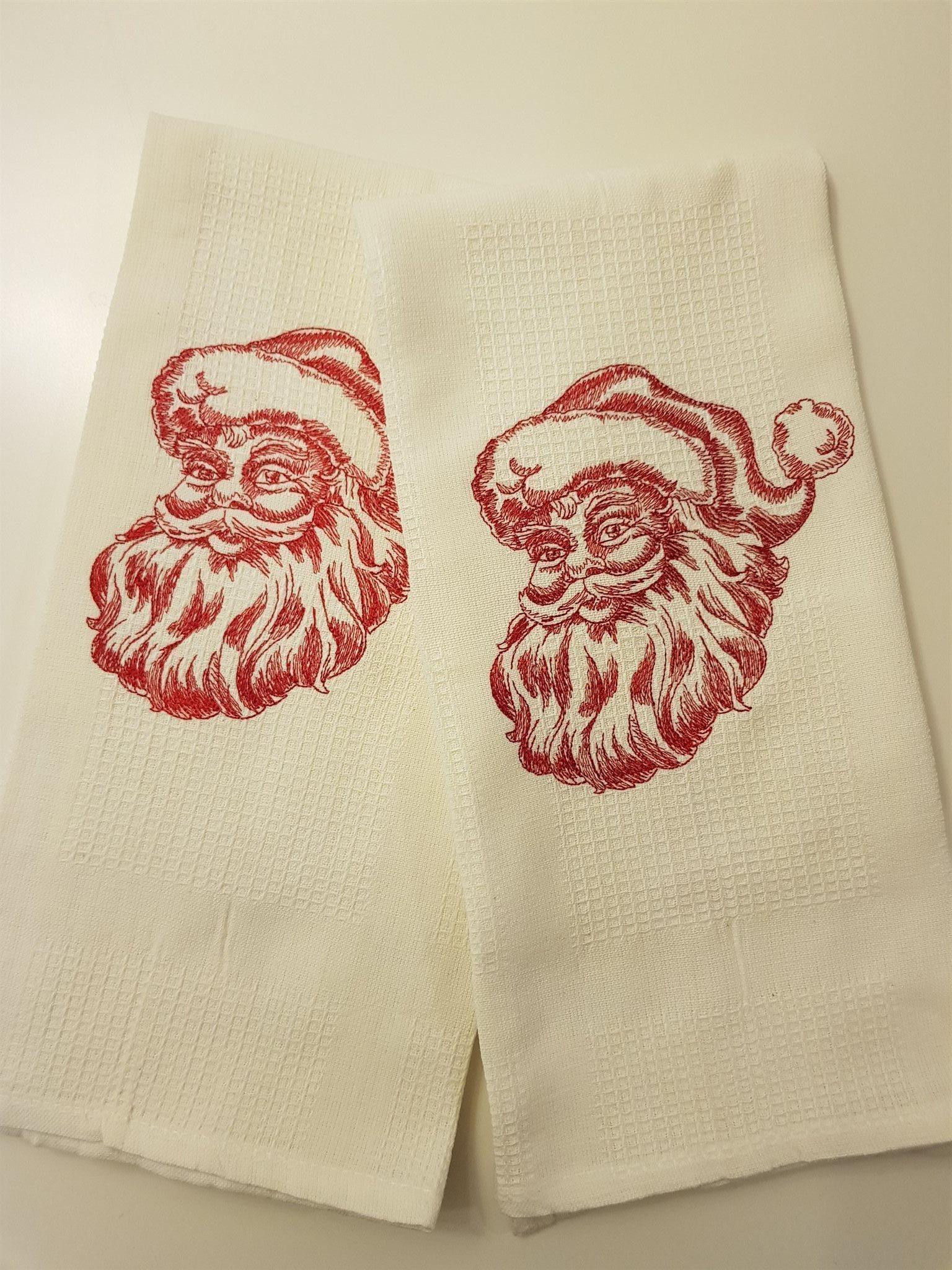 2-pack handdukar med jultomte i brodyr  672f095226806