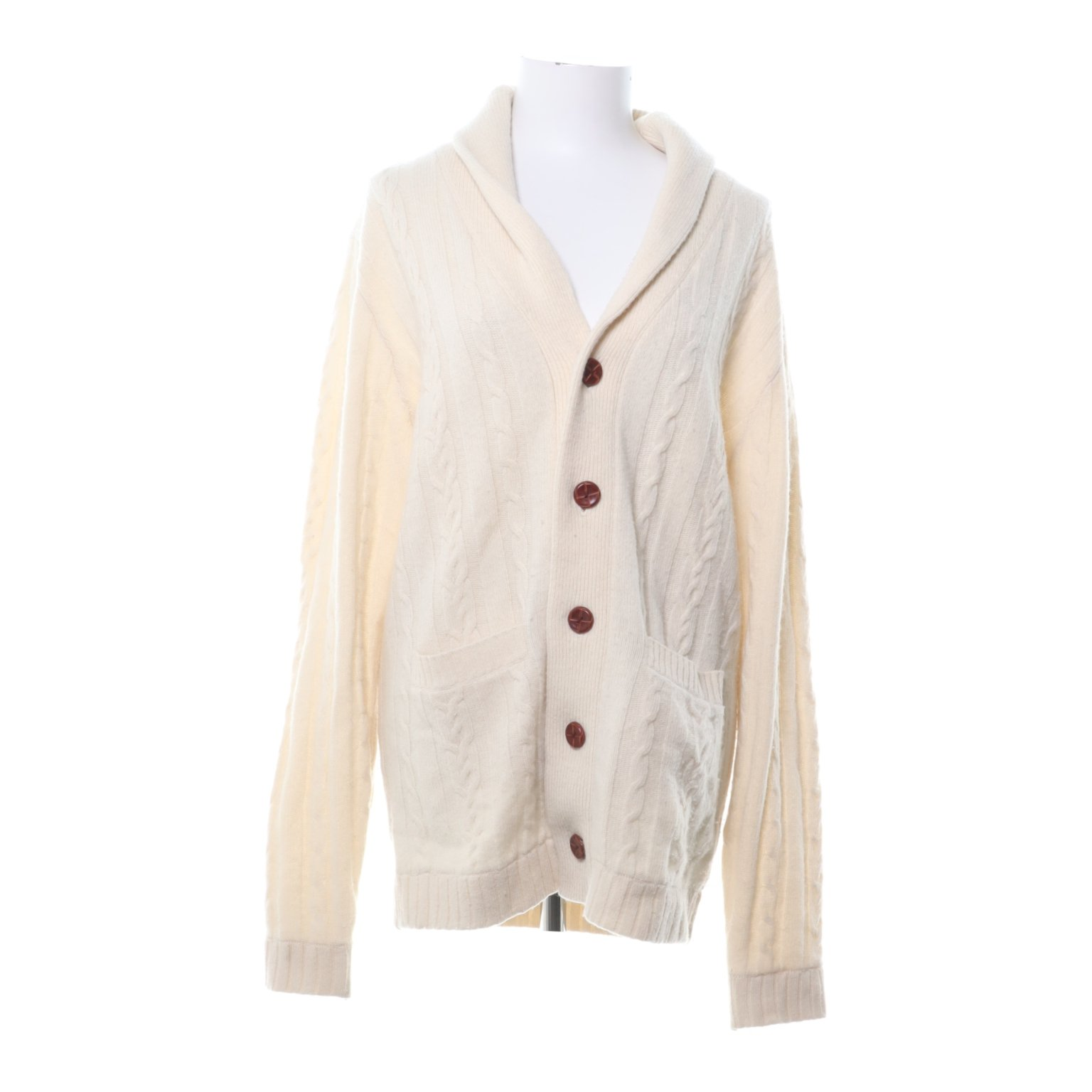 These Glory Days, Cardigan, Strl: L, Benvit, Ull/Nylon