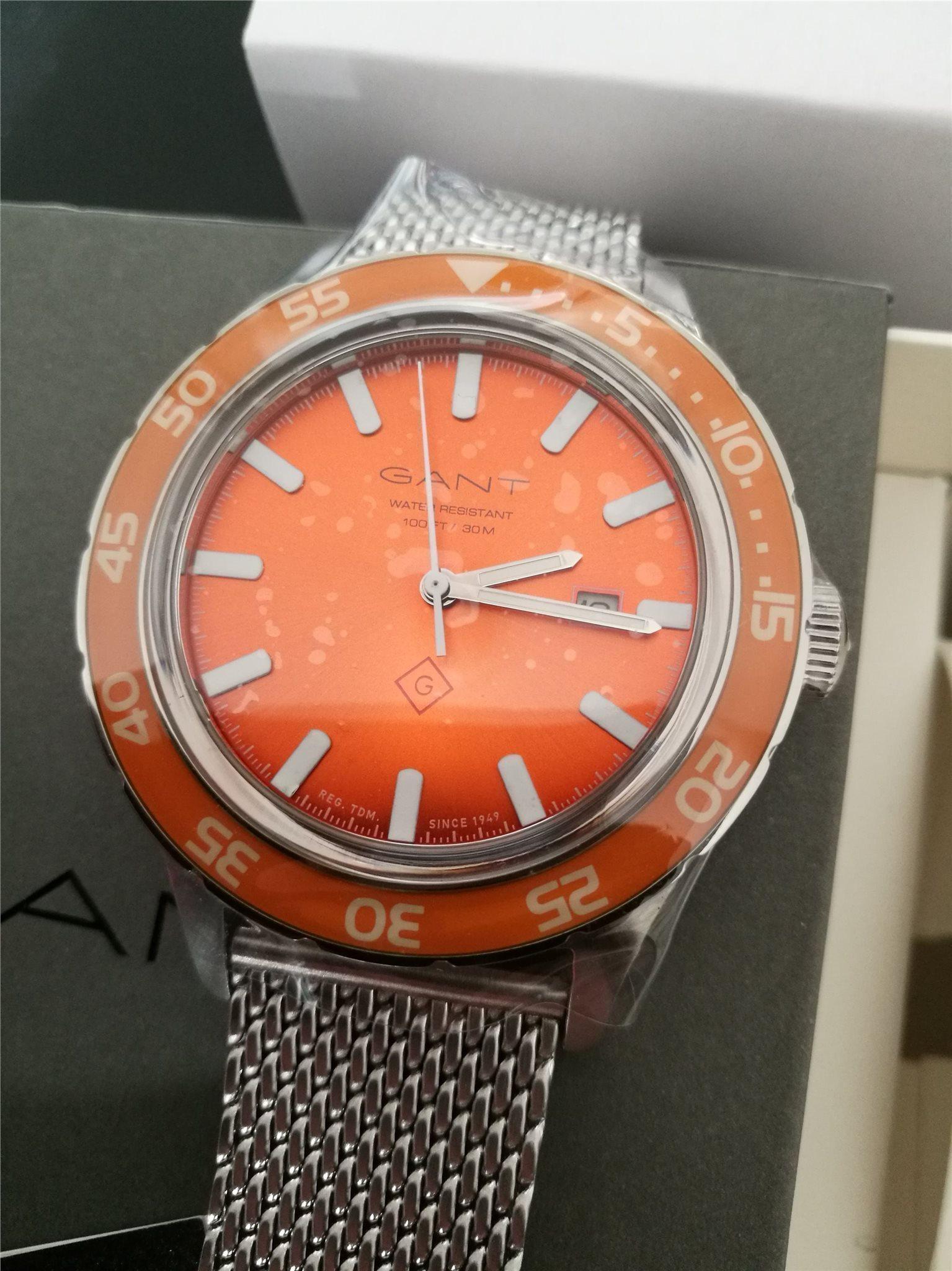 gant klocka orange