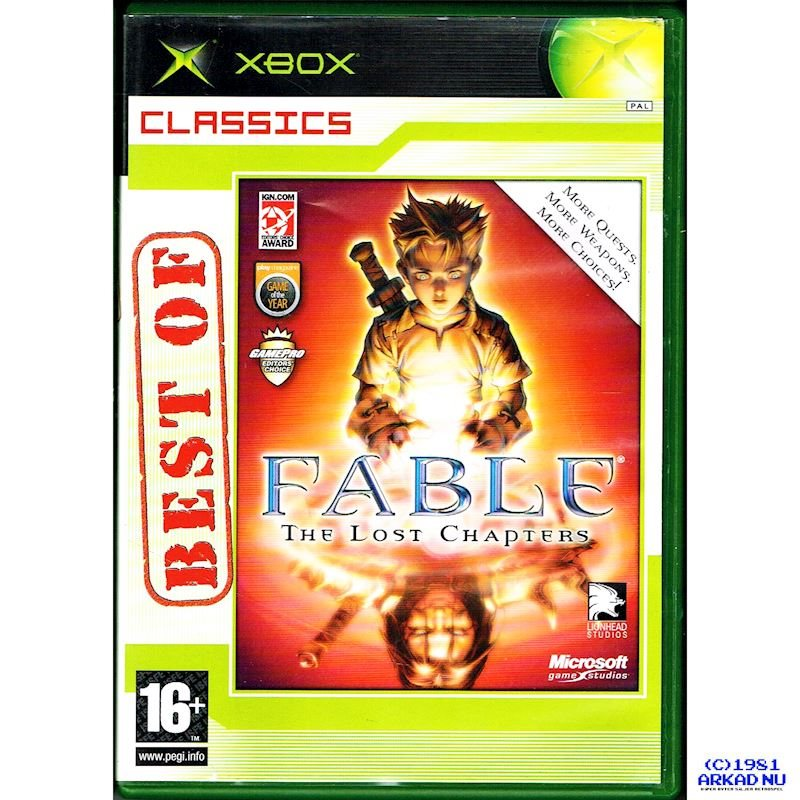 FABLE THE LOST CHAPTERS XBOX CLASSICS