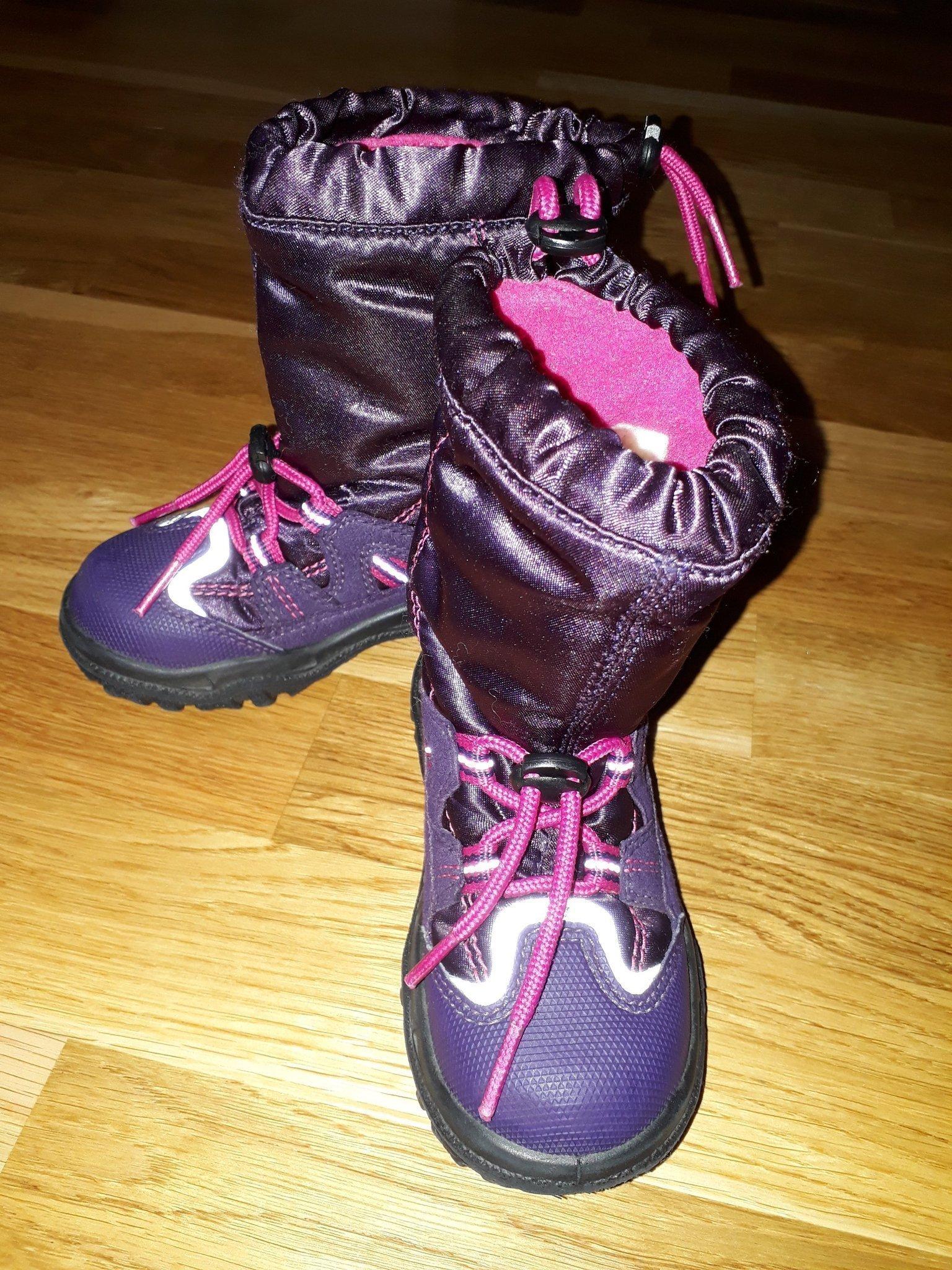 Superfit, vinterkängor, stl 24, lila med rosa detaljer, fint skick!