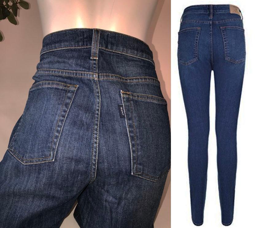 sköna jeans med hög midja