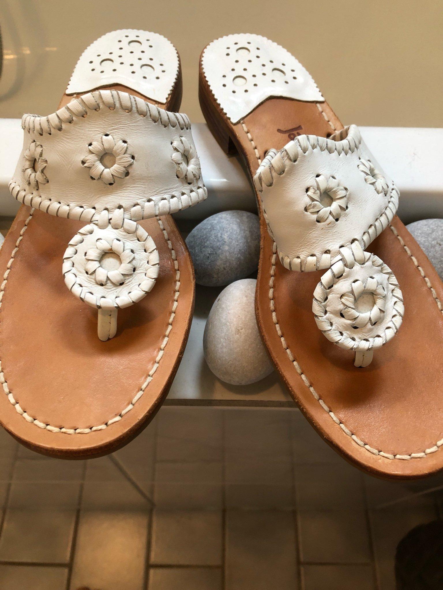 Skinn sandal från Jack Rogers vit (357399655) ᐈ Köp på Tradera