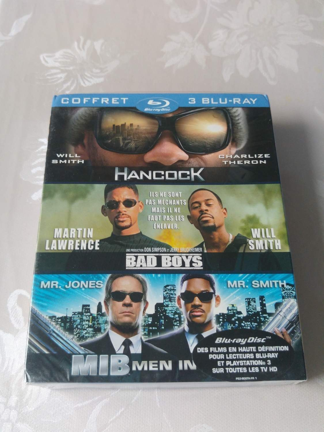 WILL SMITH COLLECTION (Blu-ray Box 3-Disc) Hancock, Men in Black, Bad Boys