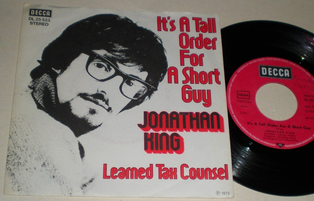 Jonathan King 45/PS It´s a tall order for a short guy 1972