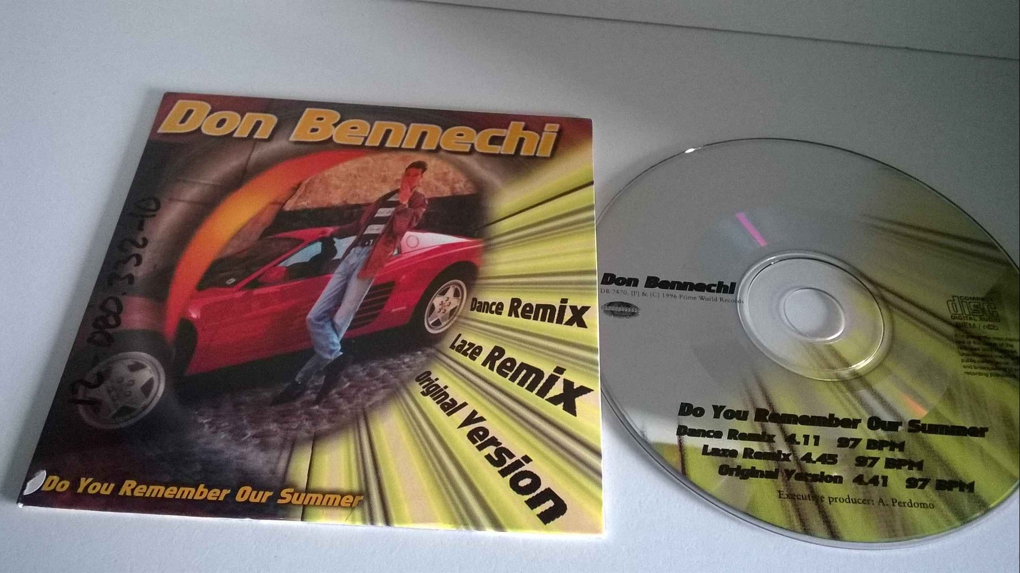 Don Bennechi - Do you remember our summer, single CD