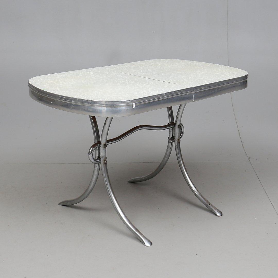 Set bord och fyra stolar från 50 talet. Retro V.. (425729435