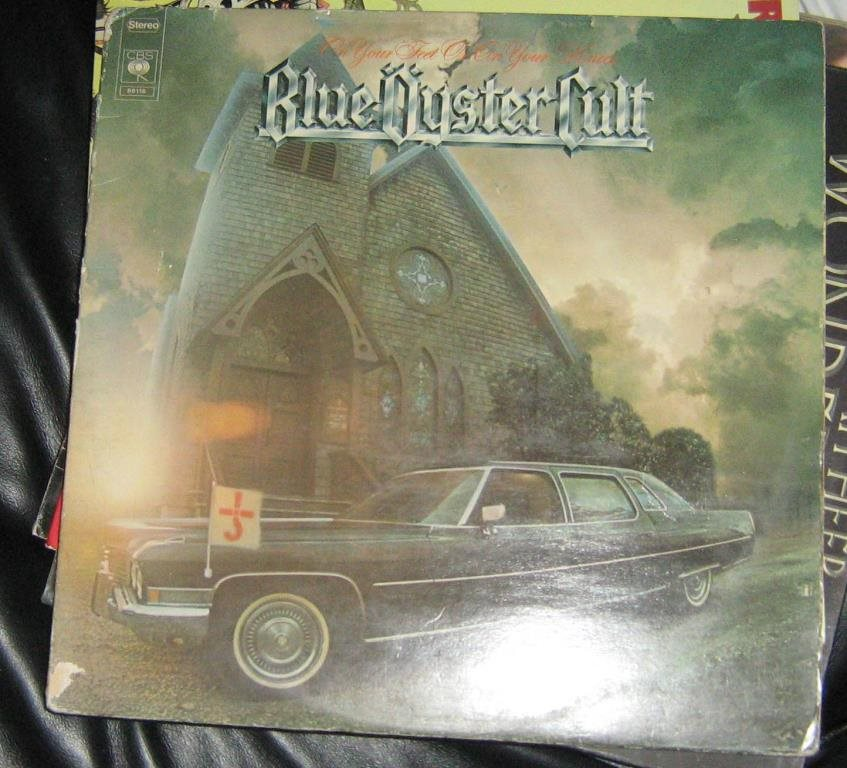 "Blue öyster cult dubbel LP""On your feet or on your knees"