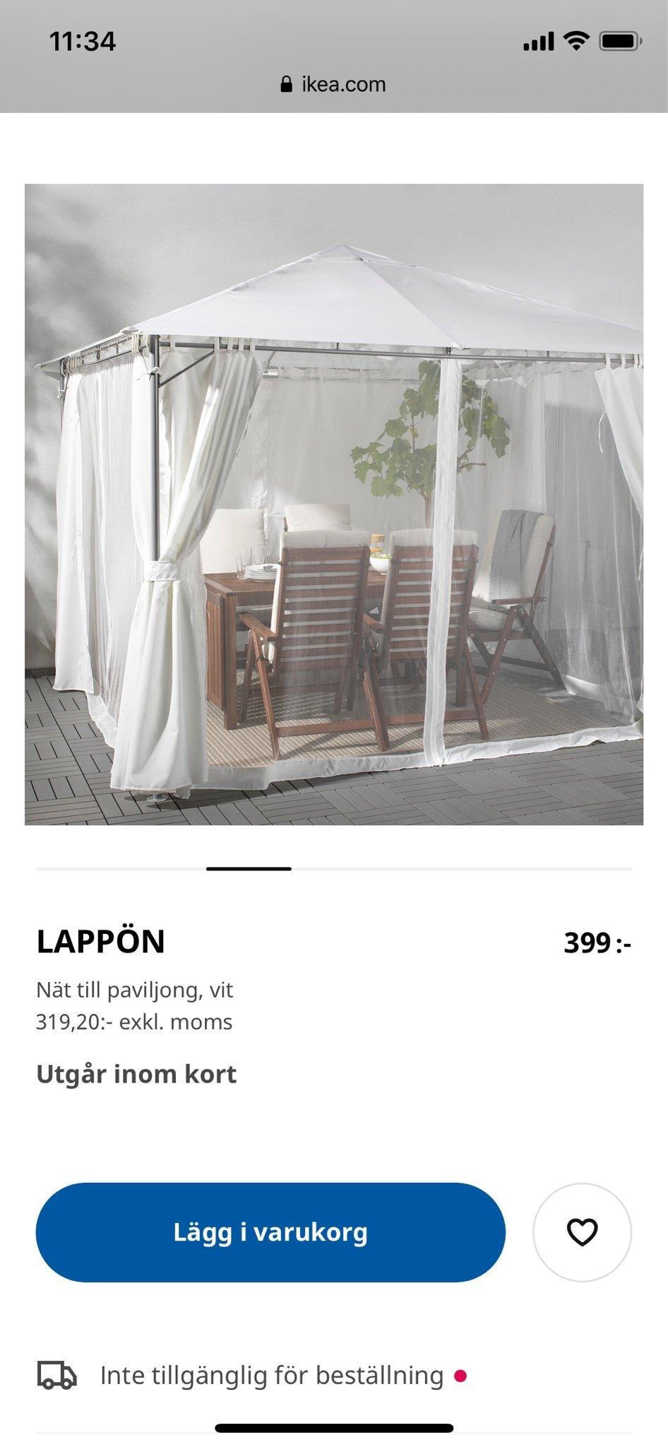 LAPPÖN Nät till paviljong, vit IKEA