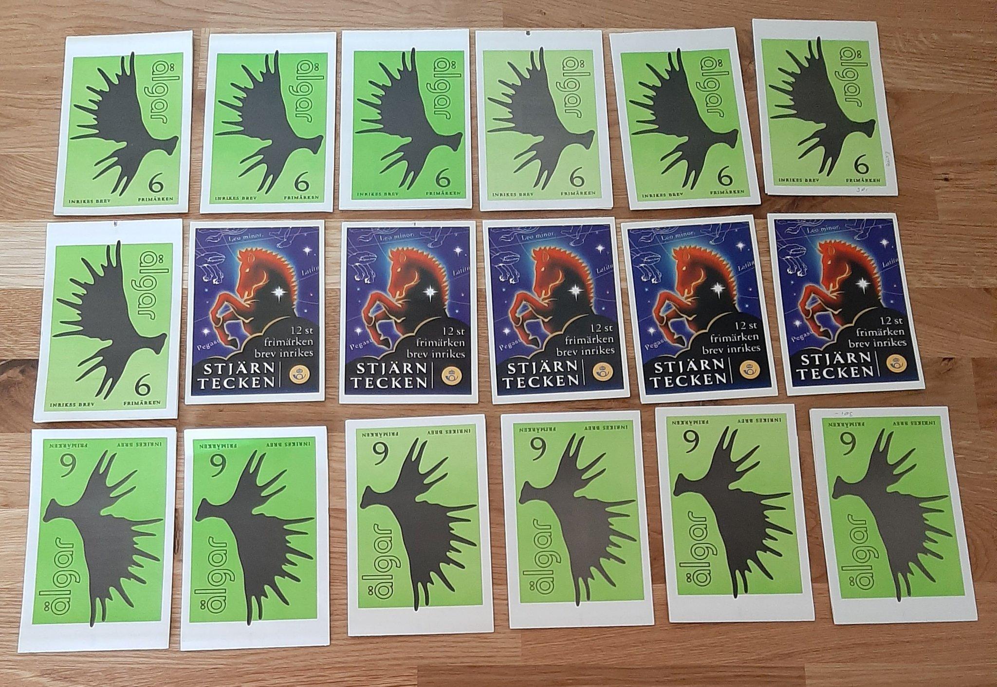 Valörlösa frimärken 138 postfriska i häften! fr.. (457209873