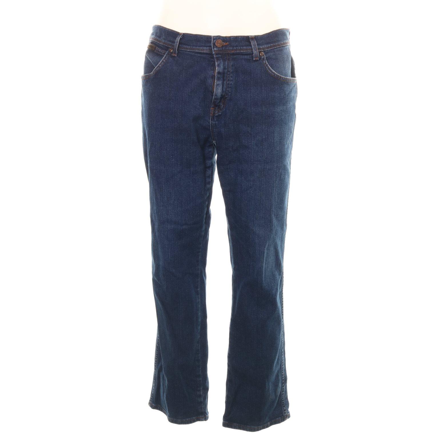 Wrangler, Jeans, Strl: 36/32, Texas, Mörkblå