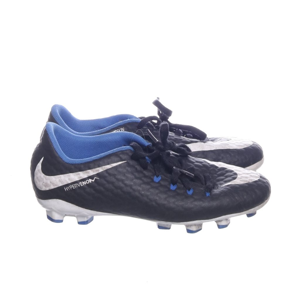 more photos 727a1 5c593 Nike, Fotbollsskor, Strl  36, Hypervenom Phelon Junior, Svart Blå