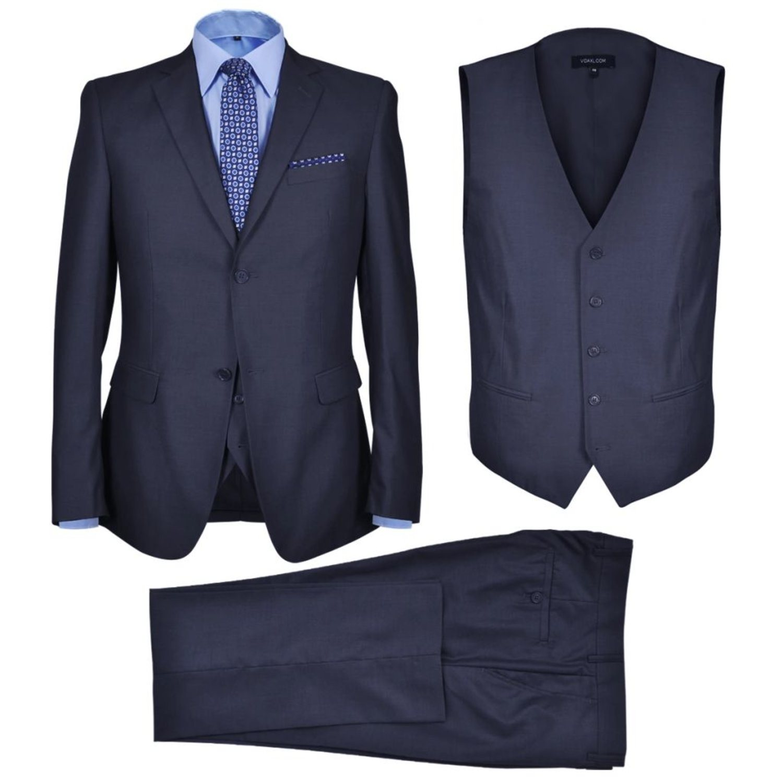 vidaXL Tredelad kostym herr strl 56 marinblå (323316088) ᐈ vidaXL ... aa5ffe51c3792