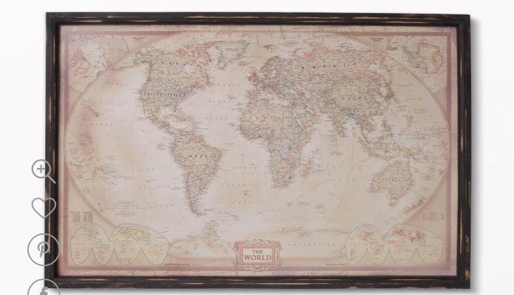 köpa världskarta tavla