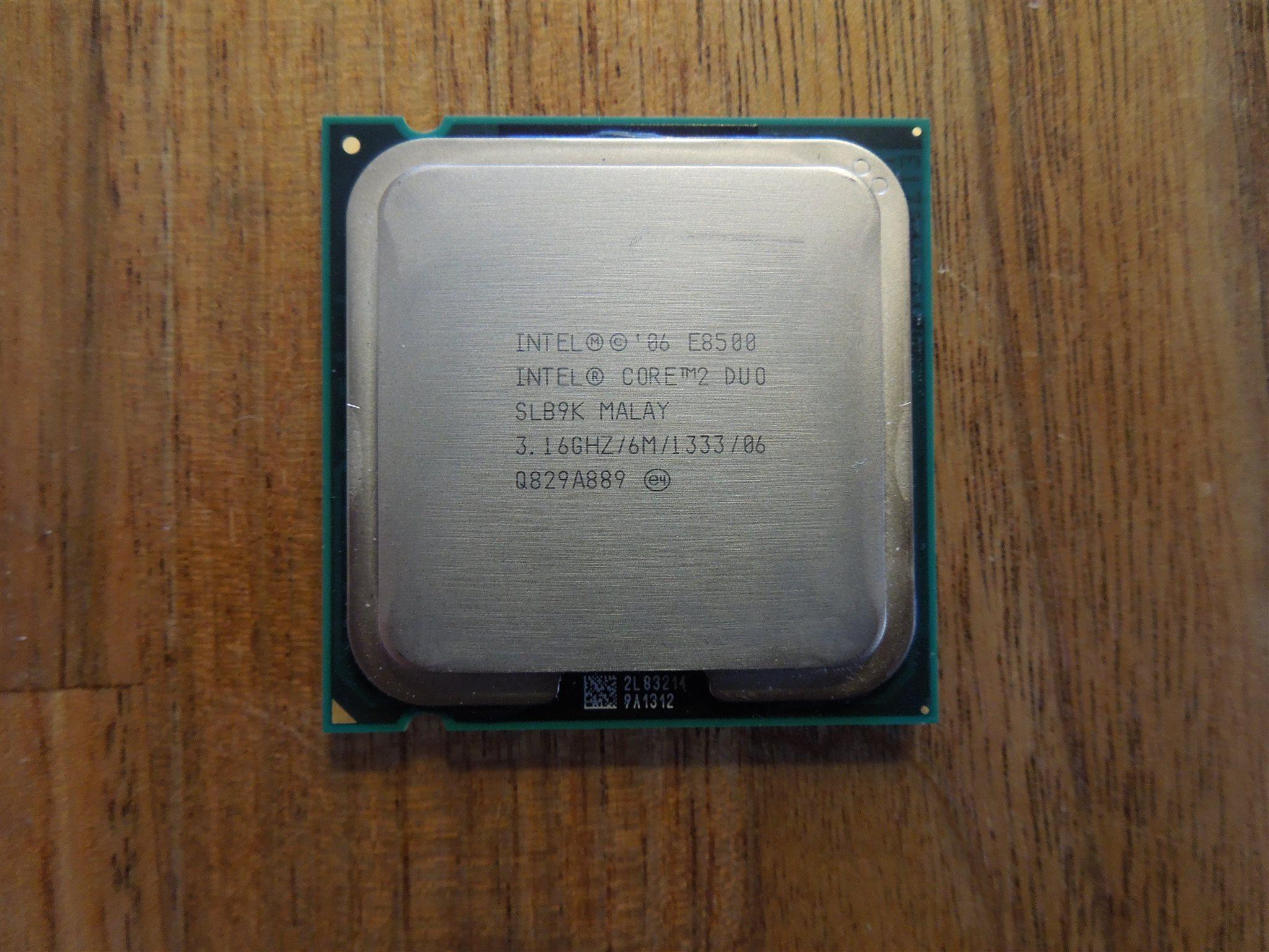 Intel Core 2 Duo E8500 316 Ghz P Vriga Processorer Prosesor