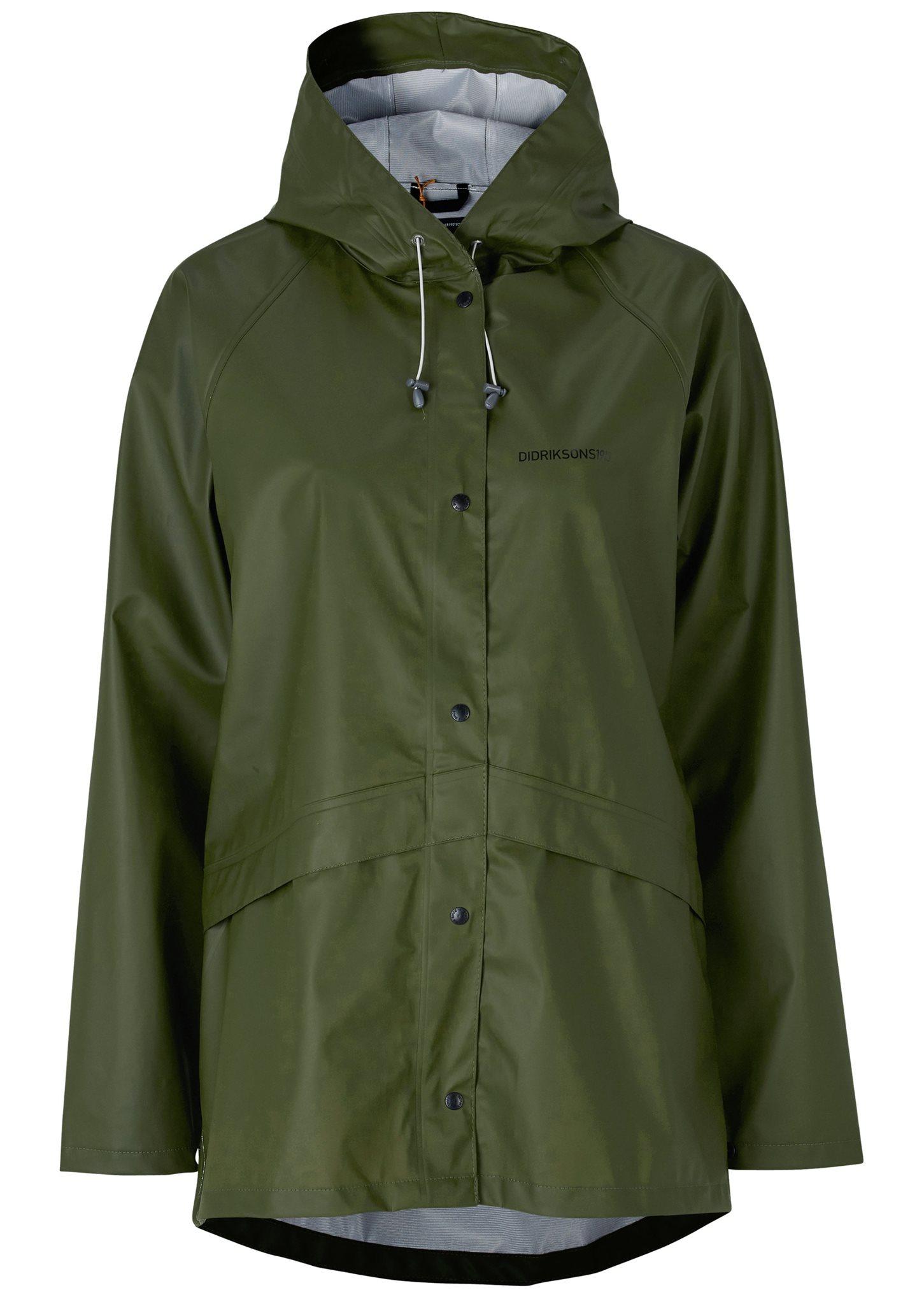 grön regnjacka dam