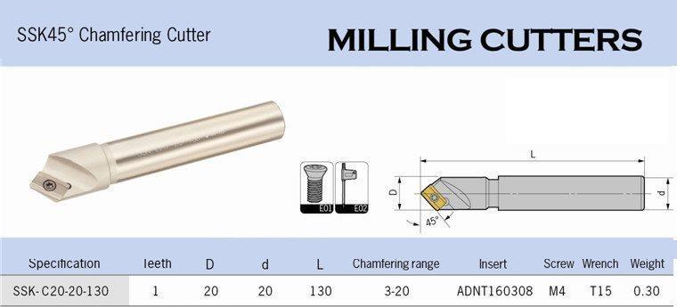 25 mm Försänkare / / / Avfasningsbom med lösa skär. Chamfering tool. aa5d88