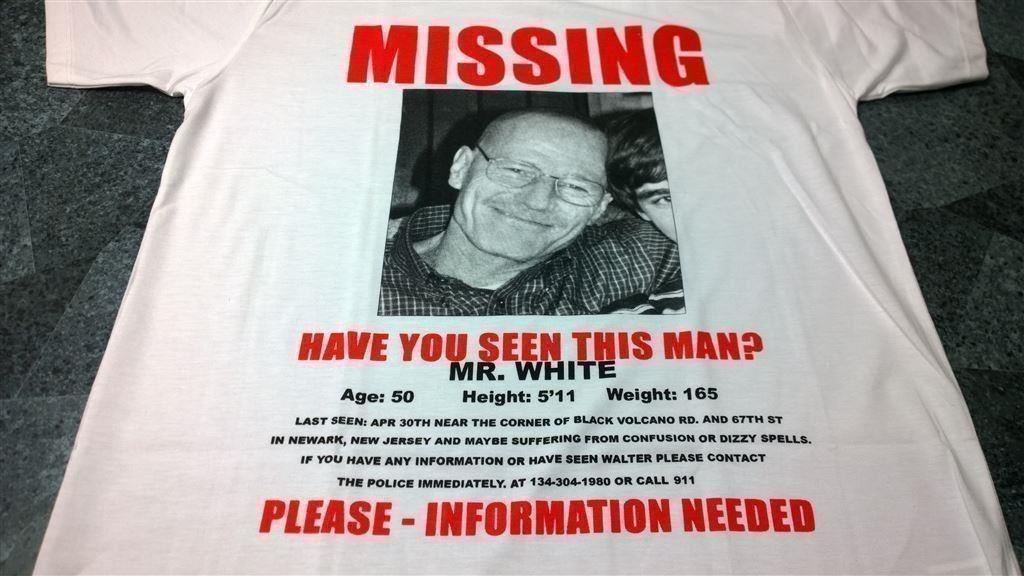 T-Shirt. Vit. Breaking Bad. Heisenberg. XL