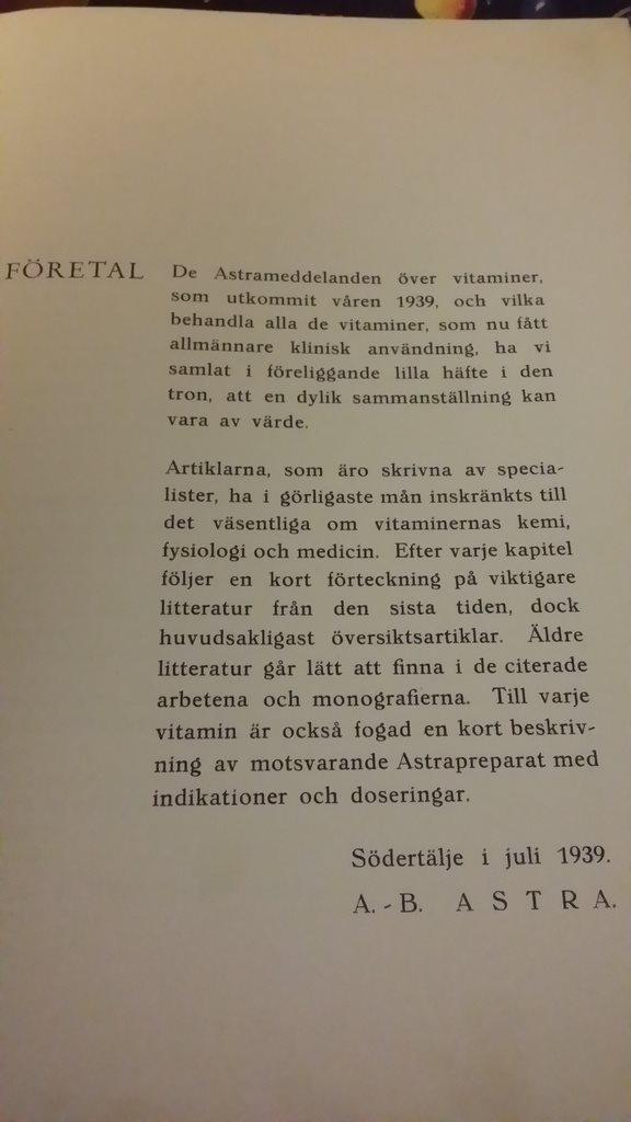bok RECEPT  Om Vitaminer 1939 1939 1939 bc9588