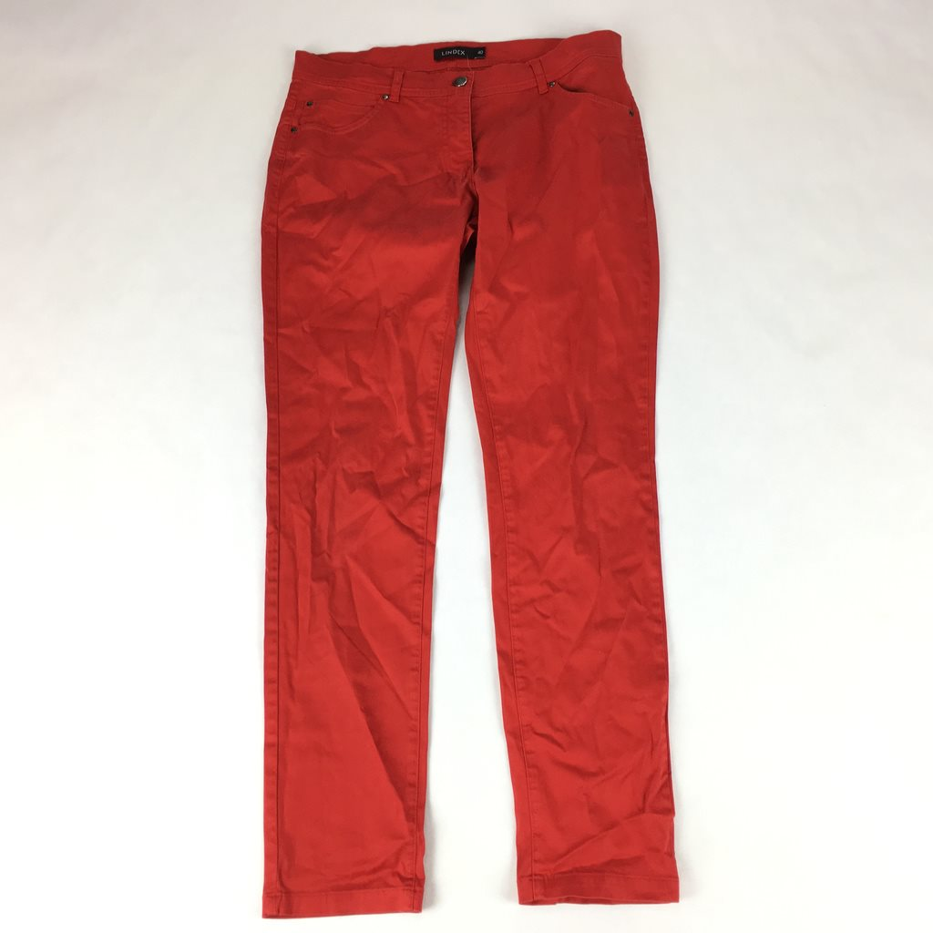 LINDEX röda Byxor strl 40. (327573140) ᐈ Footly på Tradera 76061af09f806