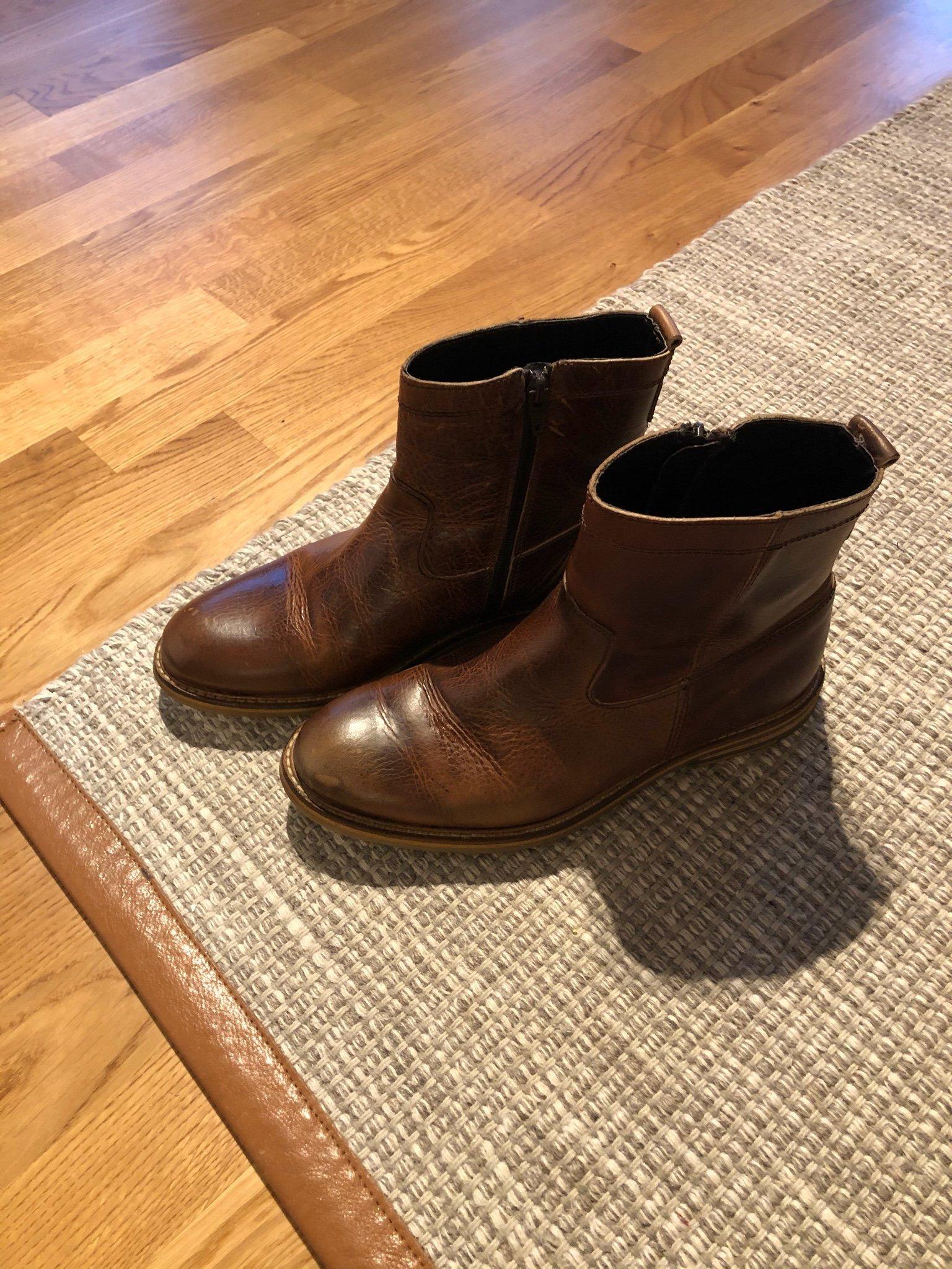 Boomerang boots brunt skinn 39 (377574077) ᐈ Köp på Tradera